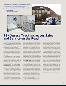 TEK Xpress Increases Sales and Services on the Road